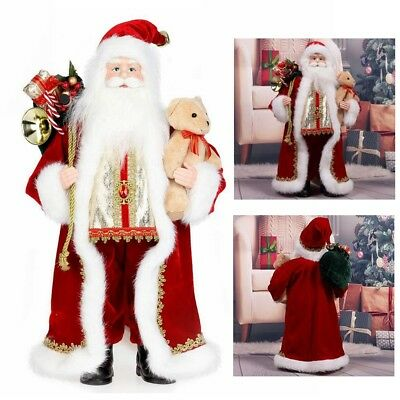 "18"" Inch Standing Red Santa Claus Christmas Figurine Figure Decoration"