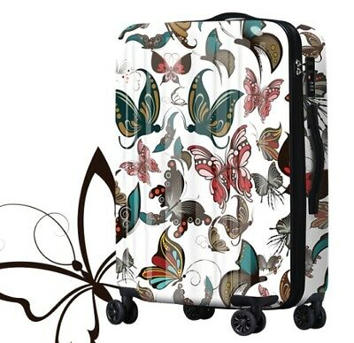 D205 Classical Style Universal Wheel ABS+PC Travel Suitcase Luggage 20 Inches W