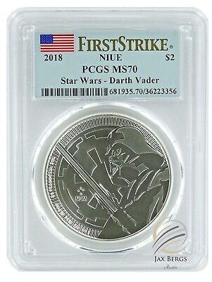 2018 Niue 1oz Silver STAR WARS DARTH VADER Coin PCGS MS70 - First Strike