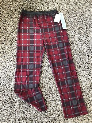 Boys Calvin Klein Lounge Pajama Pants Size 16/18 Red Plaid