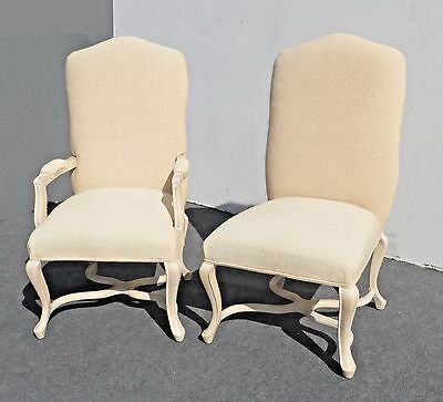 Pair of KREISS Collection French Provincial White Accent CHAIRS