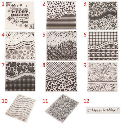 Silicone Clear Stamp Embossing Transparent Rubber Stamps DIY Scrapbook gift RW
