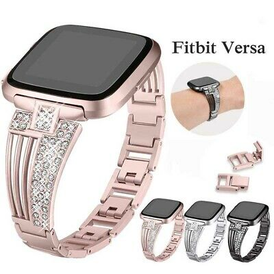 For Fitbit Versa Smart Watch Bands Strap Alloy Metal Bracelet Wrist Band Fashion