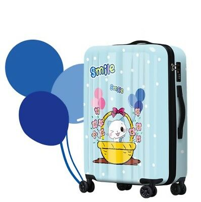 D366 Lock Universal Wheel Cartoon Cat Travel Suitcase Luggage 24 Inches W