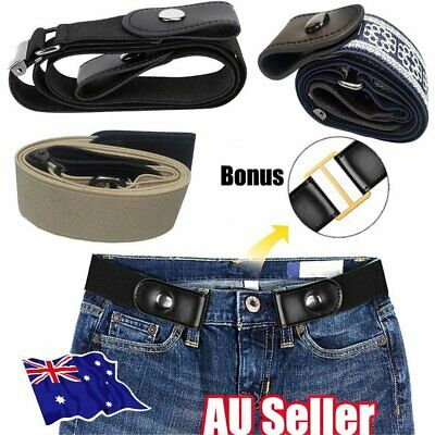Buckle-free Elastic No Bulge Invisible Women Belts Jeans Comfortable Hassle MN
