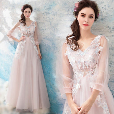 FZ52 Floral Wedding Gown Bridal dress Formal Prom Party Ball Gown Evening dress