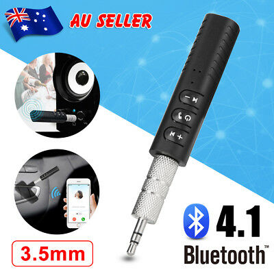 Bluetooth 3.5mm AUX Audio Car Adapter Stereo Music Receiver Wireless Handsfree