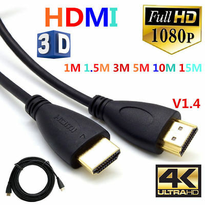 High Speed 1080P 1M 1.8M 3M 5M 10M 15M HDTV PS3 3D HDMI Cable V1.4 Connection