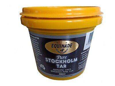 Equinade Pure Stockholm Tar 400ml swedish pine equine horse hoof care ACP-159