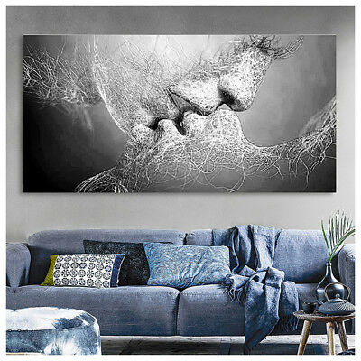 Morden Love Kiss Abstract Canvas Print Painting Wall Art Picture Home Decor Gift