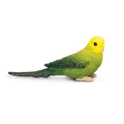 Safari Ltd. Green Parakeet Budgie Bird Figure Wings of the World Mini Figurine