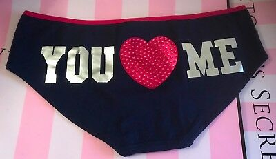 c25849deb678 Victoria's Secret Pink M You Love Me Heart Bling Rhinestone Rare Hipster  Panties