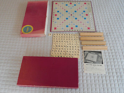 Vintage  Upson Urban Scrabble A Crossword Game With Wooden Racks