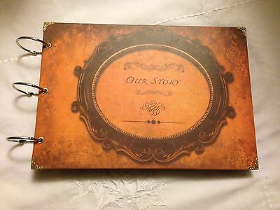 Scrapbook Photo Album, Vintage Style Hard Cover kraft scrapbooking ' Our Story '