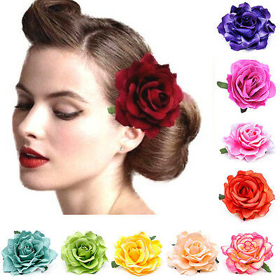 2pcs Rose Flower Hairpin Brooch Wedding Bridal Party Accessories Hair Clip AU