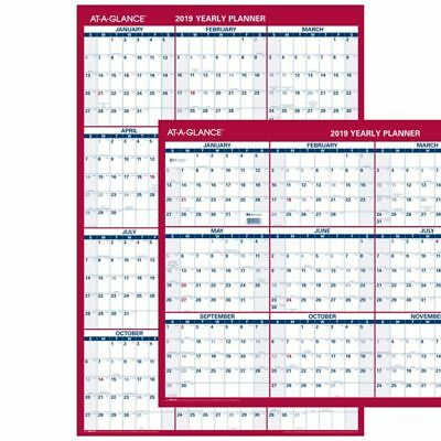 """AT-A-GLANCE® Reversible Vertical/Horizontal Yearly Wall Calendar, 36"""" x 24"""","""