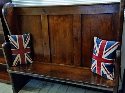 Antique High Back Church Pew / Court Bench / Settle