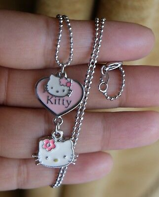 genuine 18kgp signed sanrio hello kitty charm necklace vgc