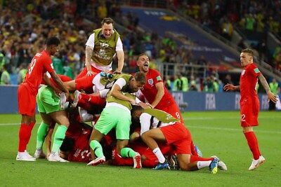"""England football World Cup team 2018 in Russia 12""""x8"""" photograph picture print"""