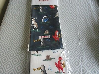 CATH KIDSTON ANIMAL BAND TEA TOWELS 2 in sealed pack new
