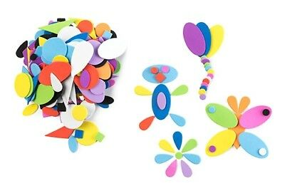 Foam Assorted Geometric Shapes - Multi Coloured - 250 pieces