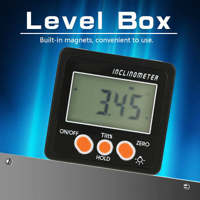 Digital Box Gauge Angle Protractor Level Inclinometer Magnetic Base 0 - 360° ANY