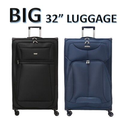 Aerolite Lightweight Large XL Extra Large 4 Wheel Check In Hold Luggage Suitcase