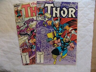 THOR 350, 352,   VERY FINE condition