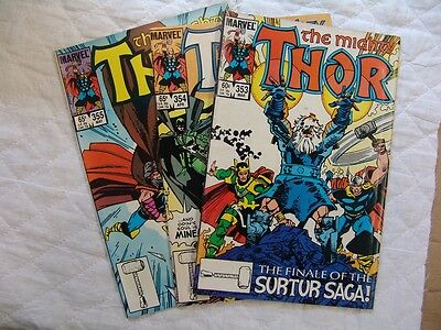THOR 353, 354, 355   VERY FINE condition