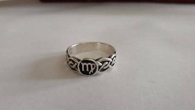 Peter Stone Sterling Silver Celtic Band Sz 8