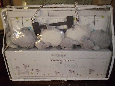 Silver Cloud Counting Sheep Musical Mobile Nib