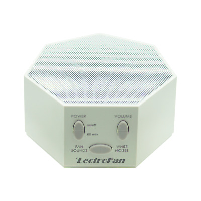 LectroFan High Fidelity Fan Sound + White Noise Machine | White