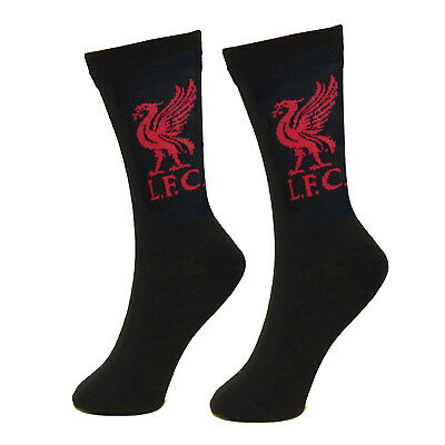Liverpool FC Official Gift 1 Pair Liverbird Mens Dress Socks Black