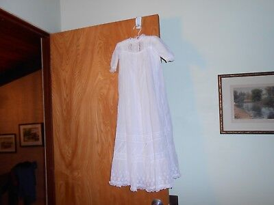 Antique Christening Gown Baby  Victorian  32.5 in. Long