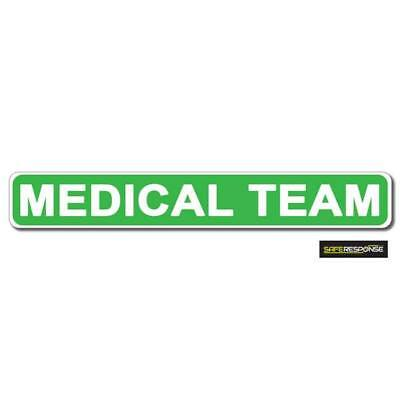 Magnetic sign FIRST RESPONDER Green Background with Dayglo text vehicle signage
