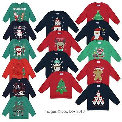 Baby Kids Children Christmas Jumper Boys Girls Sweatshirt Xmas Printed 6M - 4Y