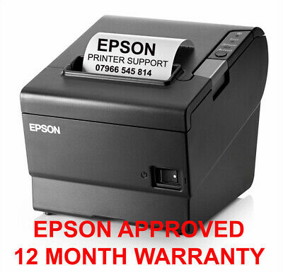 Immaculate Epson Tm-T88V - Serial Rs232 + 12 Month Warranty + Usb + Psu Grey