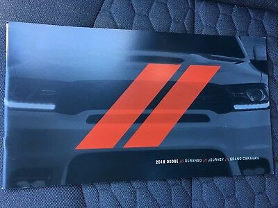 2018 DODGE DURANGO JOURNEY GRAND CARAVAN 48-page Original Sales Brochure