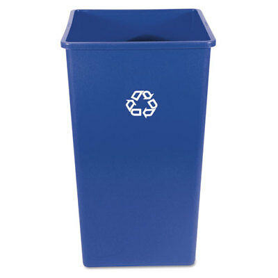 Recycling Container, Square, Plastic, 50 gal, Blue