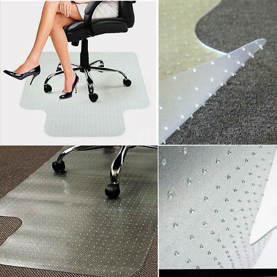 """Rectangle PVC Home Office Chair Floor Mat Protector for Pile Carpet 36"""" x 48"""""""