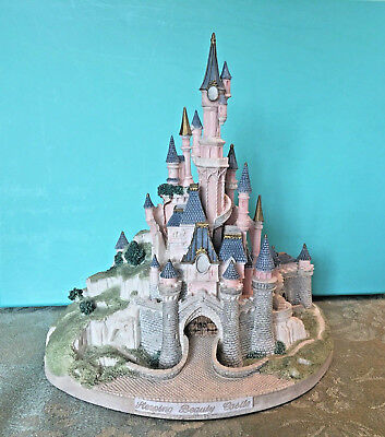 WALT DISNEY JOHN HINES Euro Disney SLEEPING BEAUTY CASTLE SIGNED LE FIGURINE