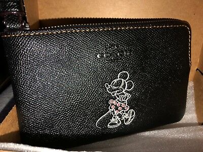 100% Authentic Coach Disney X Minnie Mouse Wristlet Brand New