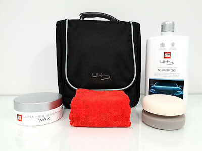 AUTOGLYM ULTRA HD HIGH DEFINITION COLLECTION VALET BAG KIT CAR POLISH SET 4 pc