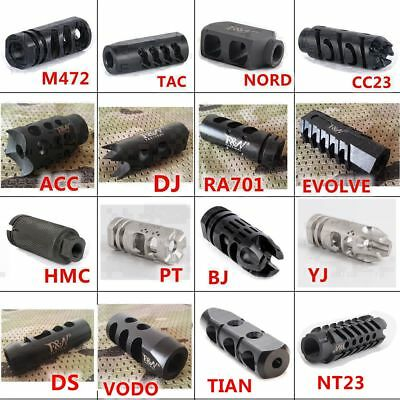 New Arrival 16 Types All Steel F&N Tactical 556/223 Muzzle Brake 1/2x28 TPI