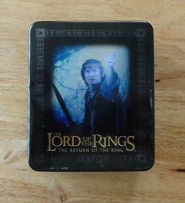 lord of the rings-return of the king,trading cards in tin.-full set.