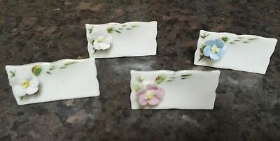 4 VINTAGE CHINA NAME PLACE SETTINGS,TEA PARTY,1940s/50s,DINNER PARTY,TABLE