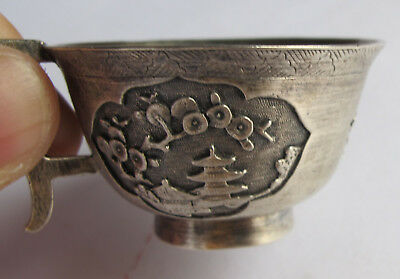 Old Vintage Antique  China Chinese Peranakan Silver Ware A  Tea Cup