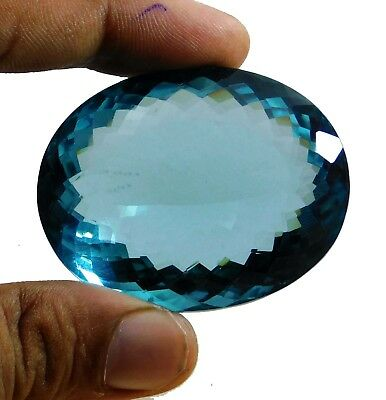 259.10cts. Natural Certified Oval Cut Ocean Blue Aquamarine Loose Gemstone k545