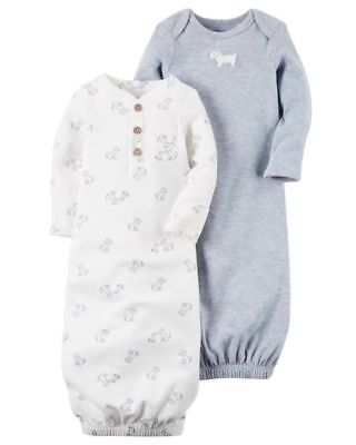 CARTER'S  2 PACK BABY GOWNS NEW BORN NWT  126G706 New Born