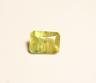 1.45ct Madagascan Sphene - Lovely Vibrant Titanite Emerald Cut Gem
